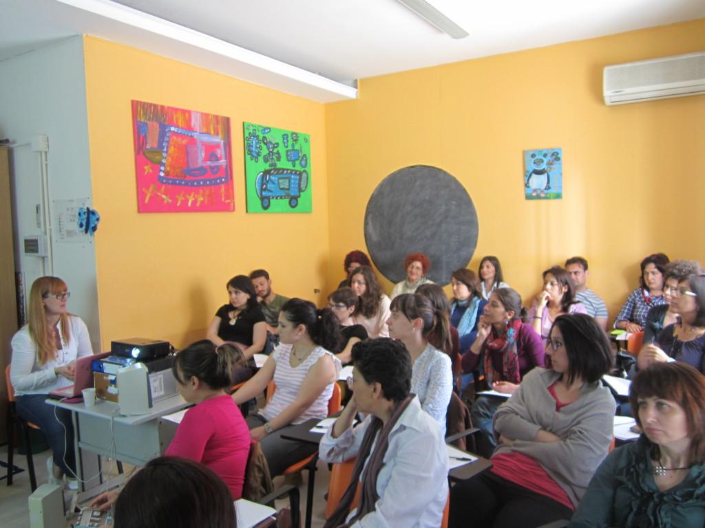 le equipe dei servizi della cooperativa sociale San Martino in formazione
