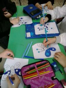 farfalle blu nelle scuole  per la giornata della consapevolezza dell'Autismo