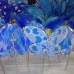 farfalle blu per la giornata della consapevolezza dell'Autismo